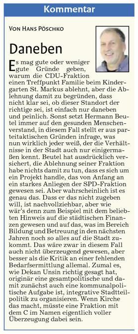 Quelle: Kommentar Schorndorfer Nachrichten von Hans Pöschko vom Mittwoch, 6. August 2014